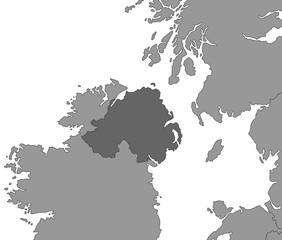Nordirland Karte