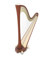 Harp 3d illustration.