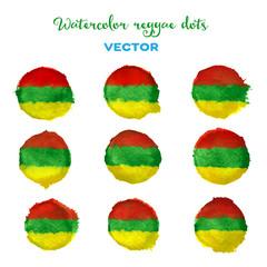 Watercolor vector reggae style dots.