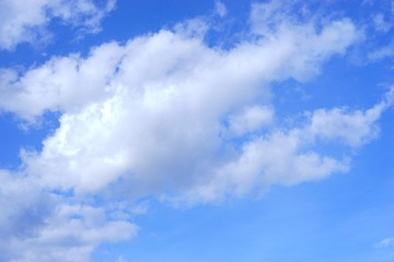 blue sky and white cloud for background