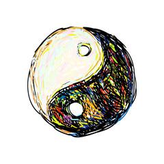 Ying yang symbol. Art symbol of yin and yang