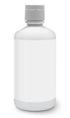 Blank medicine bottle isolated on white background