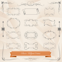 Vintage frames and scroll elements
