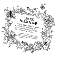 Floral blank sign.