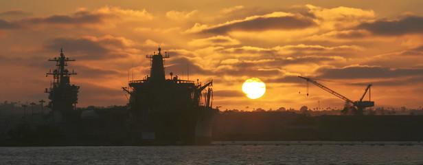 A Sunset Over Naval Base Coronado, San Diego