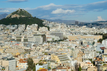 Mount Lycabettus and Athens skyline