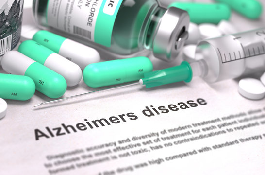 Diagnosis - Alzheimers Disease. Medical Concept with Blurred