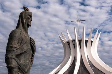 Cathedral of Brasilia, designed by Oscar Niemeyer