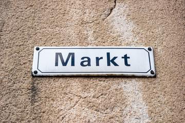Wochenmarkt Schild