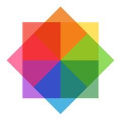 Pastel Rainbow Sqares
