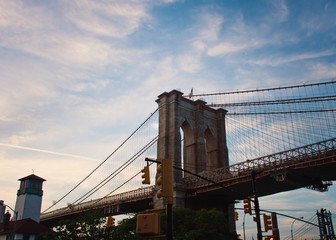 Brooklyn Bridge at dusk