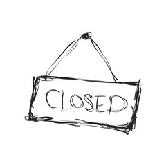 Simple doodle of a closed sign