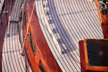 Kajüte eines Segelbootes