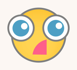 Fear - Cartoon Smiley Vector Face