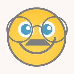 Bookworm - Cartoon Smiley Vector Face