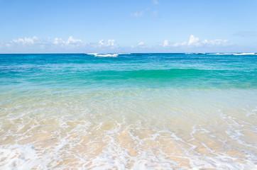 Ocean and tropical sandy beach background