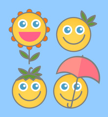 Happiness - Cartoon Smile Vectors