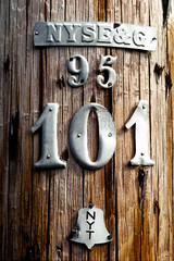 wood utility pole number 101
