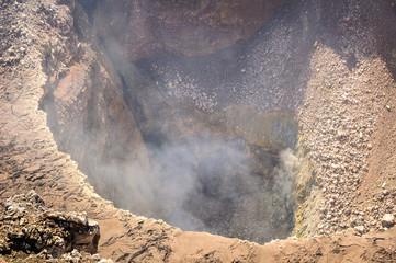 Crater of volcano Masaya, a caldera located south of Managua, Nicaragua.