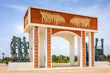 Monument in Benin, Africa