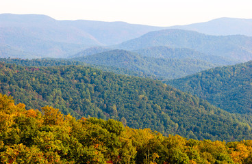 Autumn Colors at Blue Ridge Mountains
