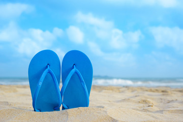 flipflops on the summer beach