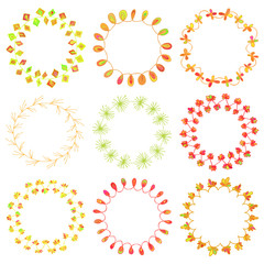 set of beautiful floral wreathes, perfect for spring designs