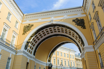 Entrance onto the Palace Square in St. Petersburg, Russia