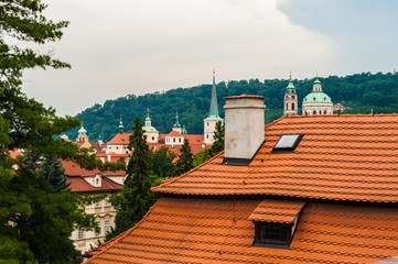 Red roof of the Czech house