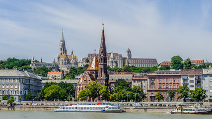 Amazing panoramic view of the Buda Side of Budapest, Hungary