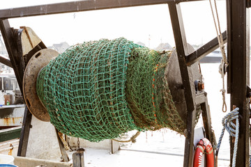Commercial fishing boat equipment.