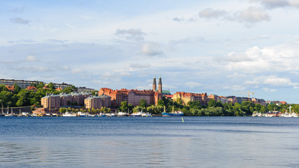Panorama of Stockholm coast, the capital of Sweden