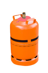 Gas cylinder on isolated white background