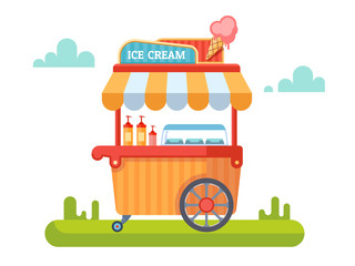 Trolley with ice cream