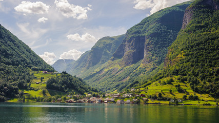 Houses on the Sognefjord, Norway