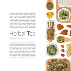 herbal tea on white background
