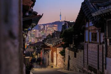 The Bukchon Hanok historic district