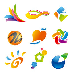 Set of colorful Icon design elements