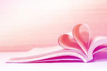 Heart book - pastel effect