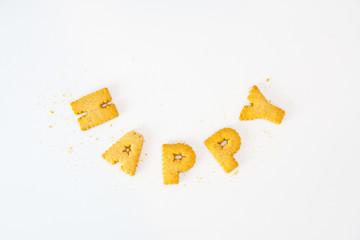 Word happy sort by cookies