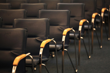 background chairs in the conference room