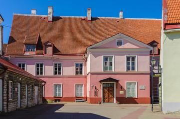 Modern building in Old town of Tallinn, Estonia