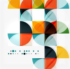Semicircle triangle pattern