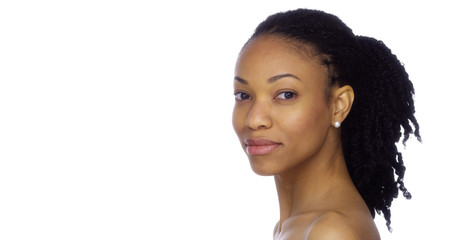 Profile of African woman