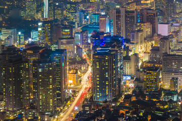 Downtown skyline of Seoul, South Korea