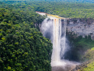 Kaieteur Falls, a waterfall on the Potaro River in central Essequibo Territory, Guyana, South America