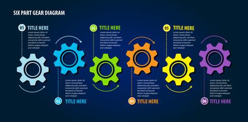 Six Part Gear Diagram