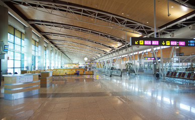 MADRID, SPAIN - MAY 28, 2014 Madrid airport interior