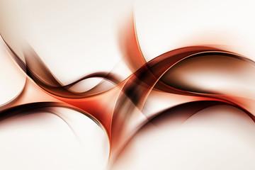 Fotobehang Fractal waves Creative Brown Orange Fractal Waves Art Abstract Background Composition