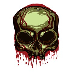 Grunge Skull Halloween Vector